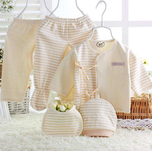 (5pcs/set) Newborn Baby 0-6M Clothing Set gift Baby Boy/Girl Clothes 100% Cotton Grooming & Healthcare Kits,Free Shipping NT043