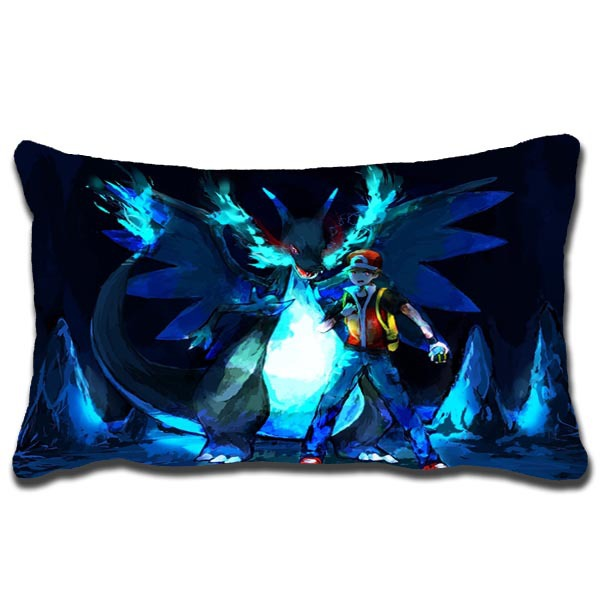 2015 Outlet CHARIZARD AND ASH POKEMON pattern Home Decoration pillowcase Animation hug pillowcase Bed linings 20X30 Inch(China (Mainland))