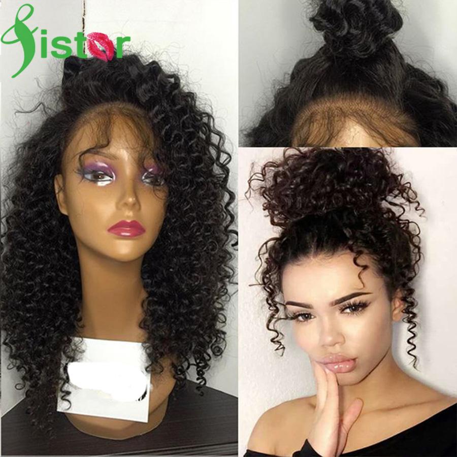 7A Brazilian Kinky Curly Full Lace Human Hair Wigs Glueless Front Black Women Afro Wig - Guangzhou Sister Co.,Ltd store