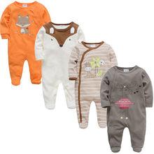 2019 3 4 штуки в партии летняя одежда для маленьких мальчиков; богемный комплект, roupa de Новорожденные малыши комбинезон хлопковые пижамы с длин...(China)