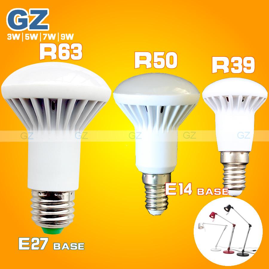 3W 5W 7W 9W led lamp e14 base r39 r50 r63 led bulbs e27 led light energy saving ac 110v 220v 240v smd2835 led umbrella bulb(China (Mainland))