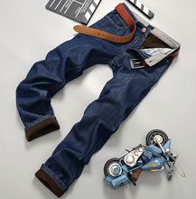 JJ 2015 New Mens Winter and Autumn Plus Thick velvet Jeans Men Demin Jeans Men Warm Pants Trousers Fur wool inside(China (Mainland))