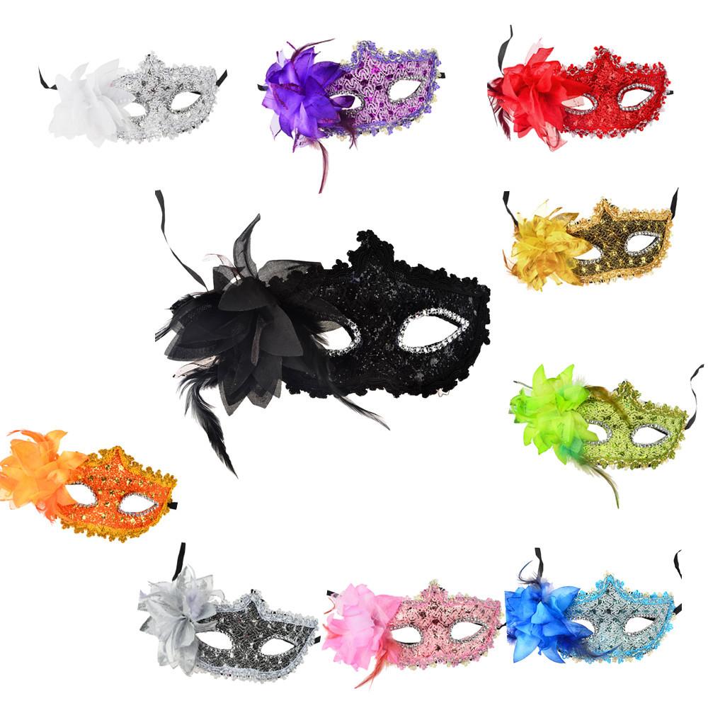 Half Face Rhinestone Lace Mask Princess Lily Venice Mask Halloween decoration christmas Party Ball Mask Masquerade Dance