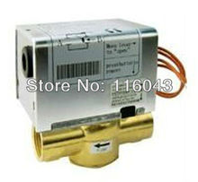 2 Way 1/2'' Motorized Valve for Fan Coil Cold/hot water system Normal Closed 2 wires 24VAC,110/220VAC(China (Mainland))