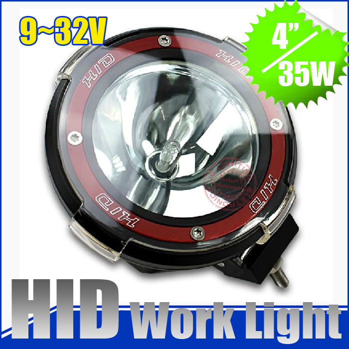 Hotest !  9-32v 7 inch spot Hid xenon work light,driving light with ballast , 35w H3 lamp for 4x4  Jeep SUV, truck headlights<br>