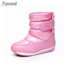 Invierno nuevas botas de nieve niñas de cerezo lindo anti-húmedo anti-slip zapatos de princesa zapatos de invierno la nieve(China (Mainland))