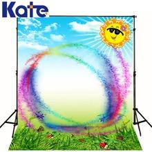 Kate Customize Backdrops Vinilos Natural Scenery Backgrounds Rainbow Sun Butterfly Photography Photo Studio