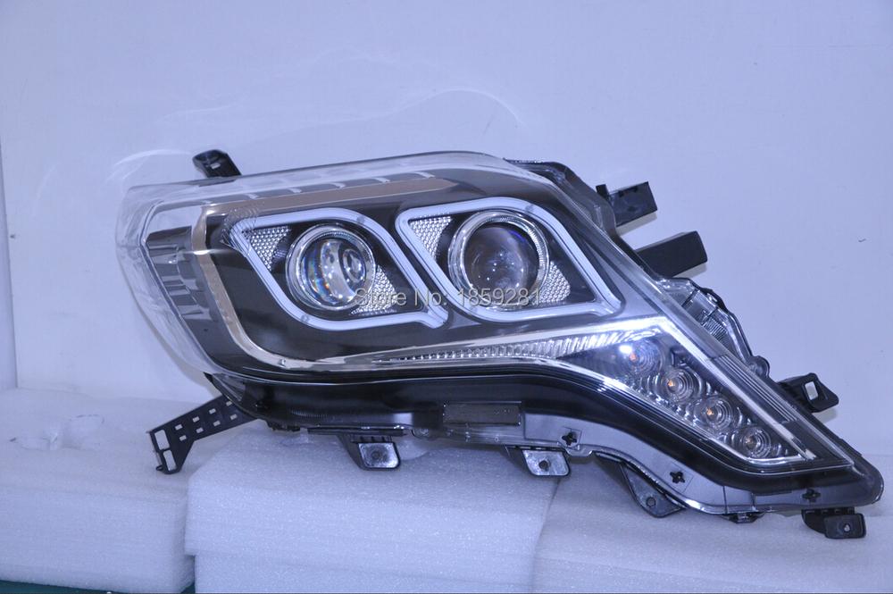 Prado headlight,LC150/FJ150 2700,4000,2014~2016,Free ship! Prado fog light,2ps/set+2pcs Ballast,Prado driver light