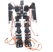 17DOF Biped Robotic Educational Robot Humanoid Robot Kit Servo Bracket with Remote Controller F17327(China (Mainland))