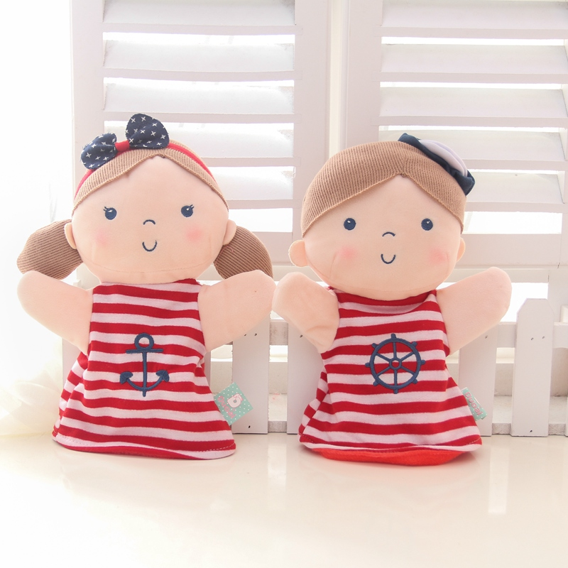 2016 Love Children hand puppet doll, Yi Beier hand puppet, baby plush toys, parenting appease doll gift!,free shipping!(China (Mainland))
