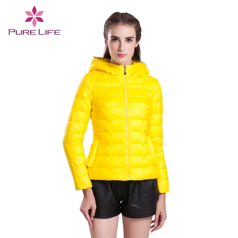 Pure Life 2015 Down Polyester Four-ColorNew Hot Winter Jacke Small Code Size Women Hooded t Casual Fashion Design Coat 66001(China (Mainland))
