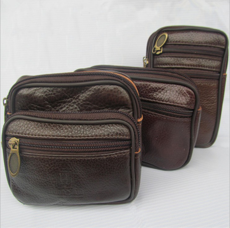 !New Hot-selling Genuine Leather 3 Styles Waist Packs Outdoor Fashion Bags C3414 - Fiona's Wallet and Bag Store store