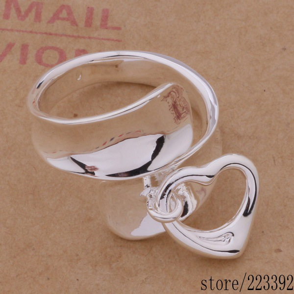 925 sterling silver ring, fashion jewelry, Hanging Heart /bcvajuca cpbalgia #538 - newworld wu's store