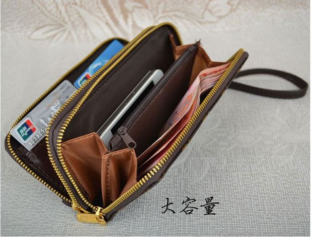 Free Shipping  Hot Sale PU Leather Wallets Women And Men Casual Wallet Fashion Print Purse Wholesale