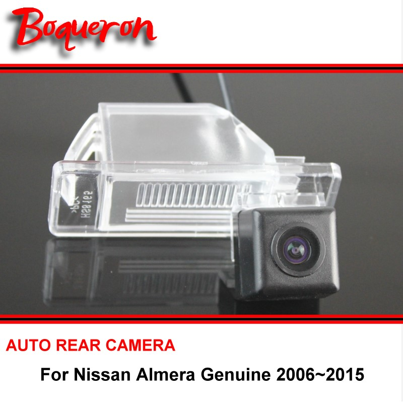 For Nissan Almera Genuine 2006~2015 wire wireless / Car Rear View Camera / HD CCD Night Vision / Car Reverse Parking Camera(China (Mainland))