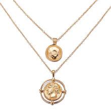 17KM czeski monety księżyc powłoki mapie koraliki naszyjniki 2019 dla kobiet wielowarstwowy Y złoto srebro naszyjniki i wisiorki moda biżuteria(China)