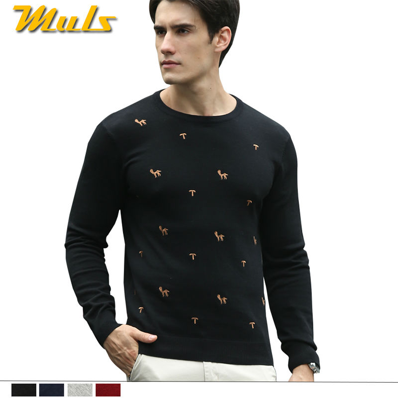 Small horse sweater men pullover Brand cotton spring jumper for men O neck embroidery letter pattern Chinese big size 4XL 88885(China (Mainland))