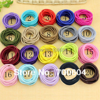 100pcs/lot, Hot Sale Cute Elastic Baby Girl Kids  Child Children Hair Band Ties Accessories ring Ponytail Holder