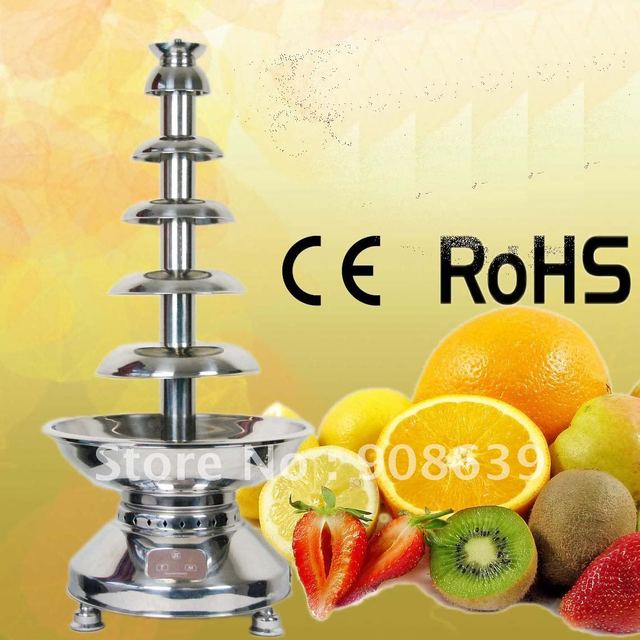Max Chocolate capacity 12KG 100CM 6 Layers commercial Use Chocolate Fountain with Automatical temperature control system