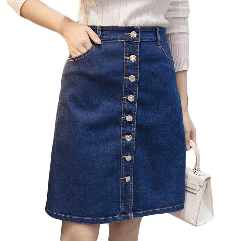 get cheap knee length denim skirts aliexpress
