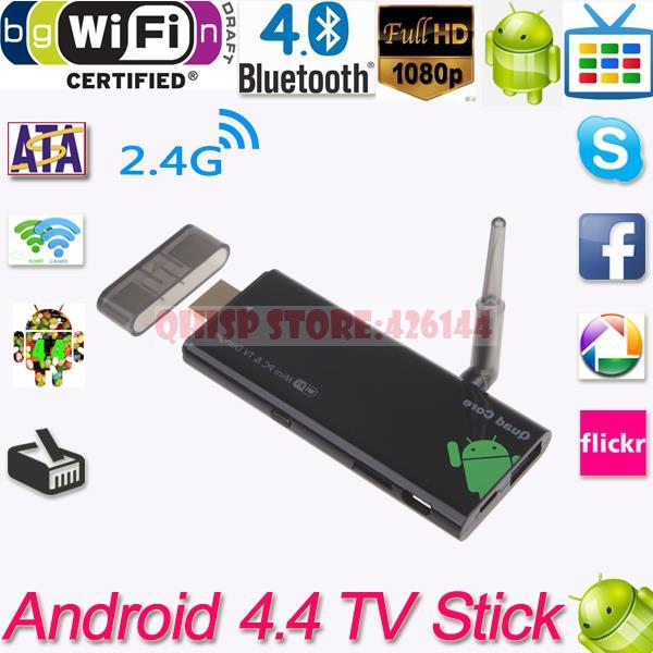 2015 Android Mini Pc Wifi Mini Pc Box Antenna Xbmc Dlan Tv Stick Bluetooth Quad Core Cx919 Android 4.4 1080p 2g/8gb Media Player(China (Mainland))
