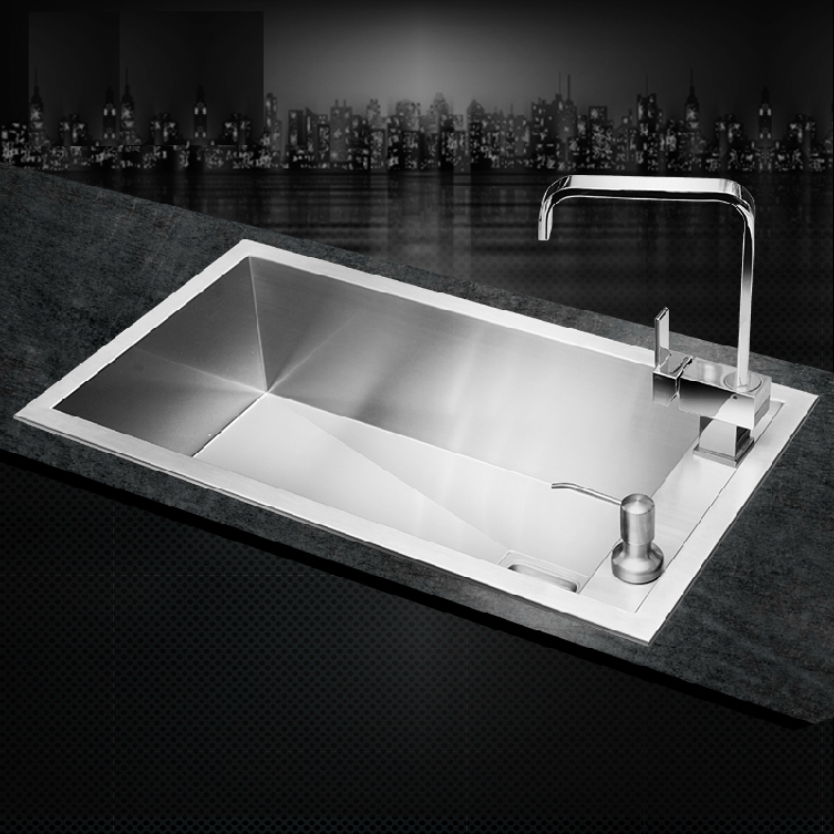 Kitchen Sink Discount : Stainless Steel kitchen sink single holes under mount hand made sinks ...