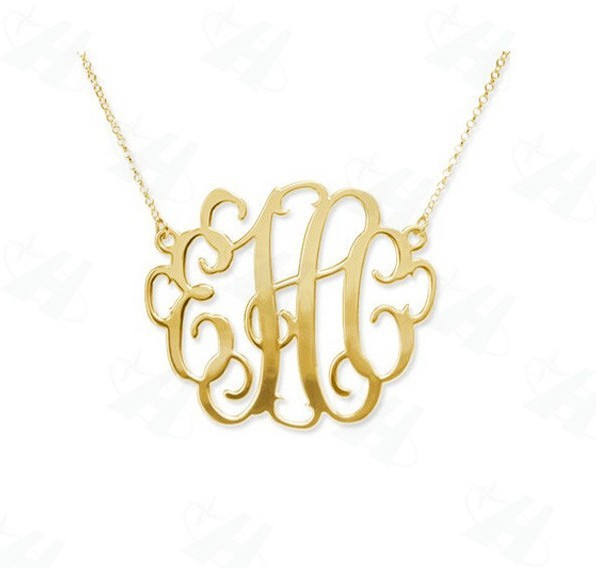 Гаджет  Fashion Personalized Custom Monogram Necklace Bold Statement Initial Letter Pendant Necklace,Gold or Silver Necklace for Women None Ювелирные изделия и часы