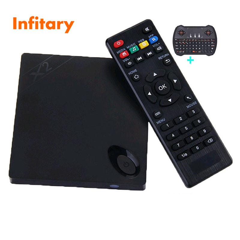 X2 Android TV Box ram1gb/8gb +R6 usb keyboard Cortex-A7 Quad Core Smart TV Media Player HDMI OTG RJ45 USB H.265/HEVC 1080P XBMC(China (Mainland))