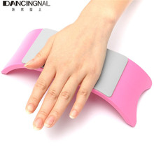 Comfortable Nail Art Pillow Hand Holder Cushion Plastic & Silicone Cushion Nail Arm Rest Manicure Accessories Tool Equipment(China (Mainland))