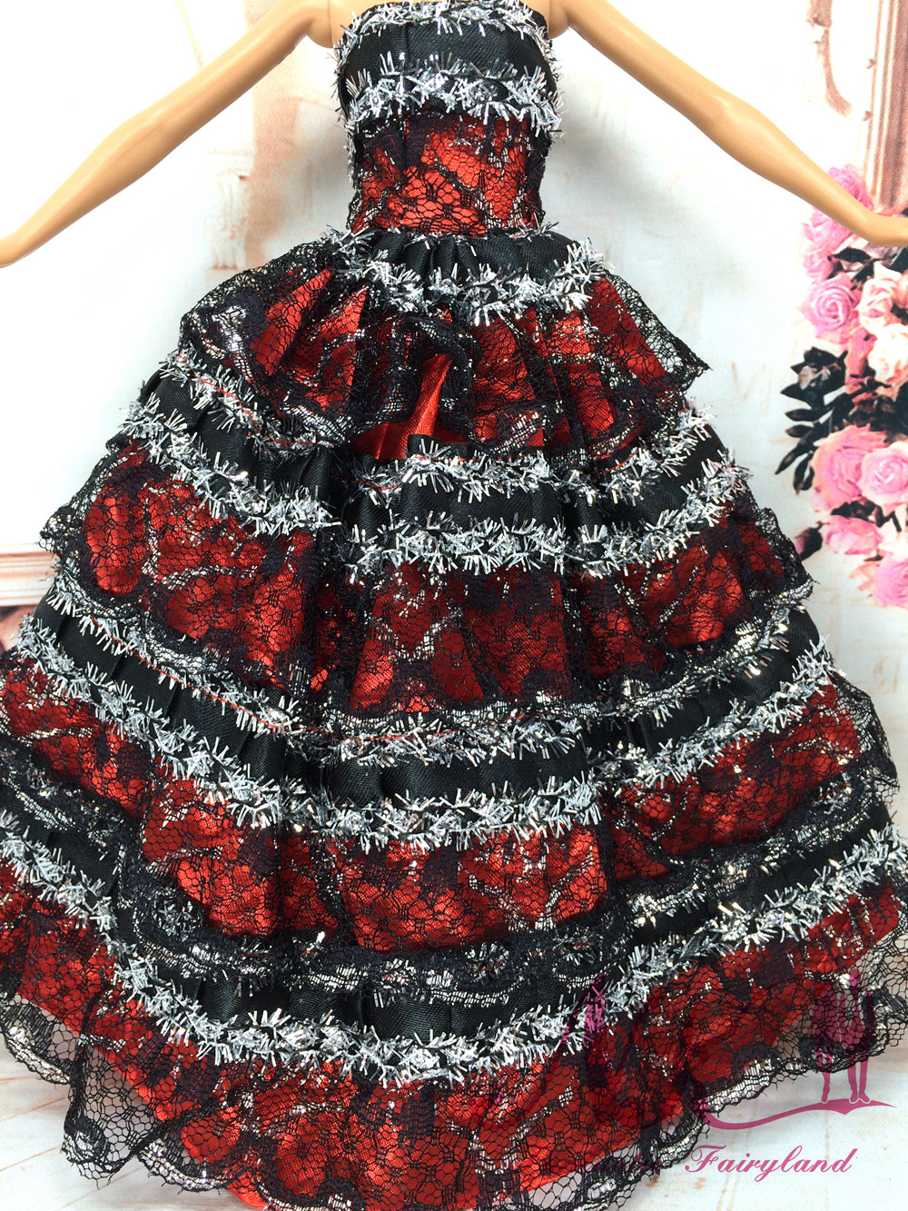 NK One Pcs Handmade Princess Wedding ceremony Gown Noble Occasion Robe For Barbie Doll Trend Design Outfit Finest Reward For Lady' Doll 037A