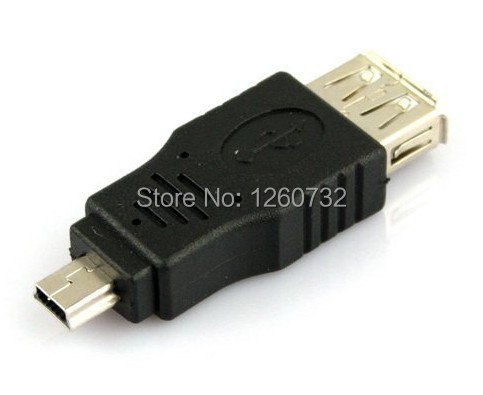 500pcs/Lot Standard USB 2.0 Female to Mini 5 Pin Male Adapter Converter DHL or Fedex free shipping