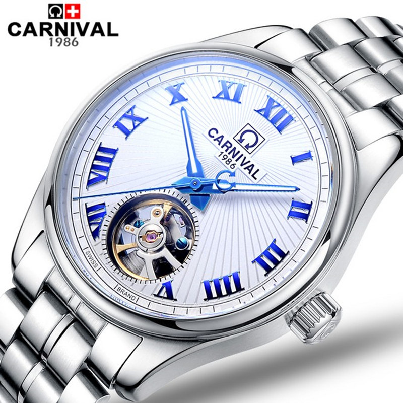Carnival watch fully-automatic cutout tourbillon mechanical watch mens watch luminous commercial