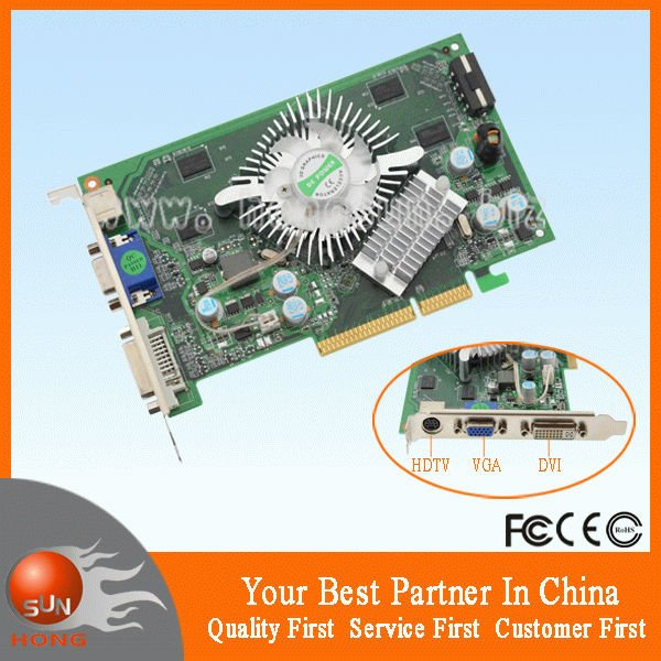 Free shipping NEW NVIDIA GeForce P508 7600GS 512MB 128BIT DDR2 800MHZ AGP Video Card Dropship with tracking number(China (Mainland))