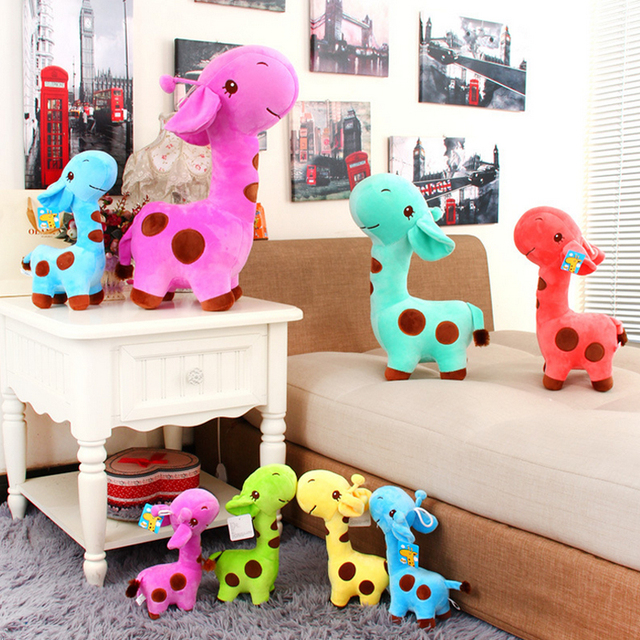 Новый 18 x 7 см милые плюшевые жираф мягкие игрушки животных дорогой кукла ребенка дети подарок на день рождения 1 шт. бесплатная доставка