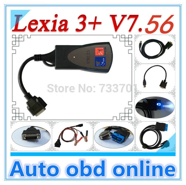 Lexia 3+ with LED Cable ! 2014 Newest lexia3 Diagnostic Tool pp2000 lexia 3,lexia-3 diagbox 7.56 software(China (Mainland))
