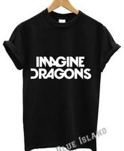 Imagine Dragons T-shirt Men AMERICAN ROCK BAND Printed T shirts Male European Size Punk Cotton Tees short sleeve Men's Clothing