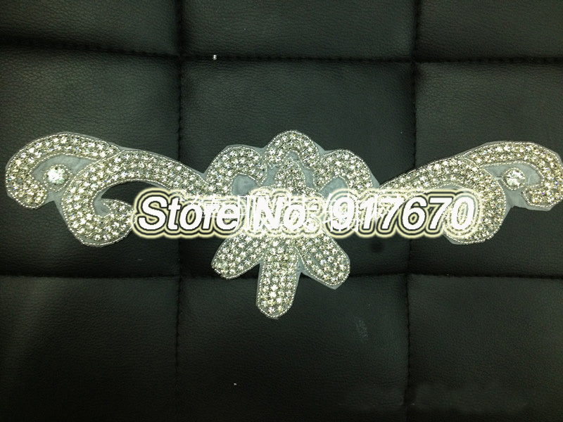 Buy luxury sparkle crystal crochet for Aana decoration wedding accessories