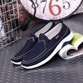 Denim shoes men loafers shoes low price casual shoe 2016 new Round Toe Rubber Basic flats