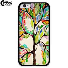 2016 New Arrival Colorful trees hard black plastic font b mobile b font font b Phone