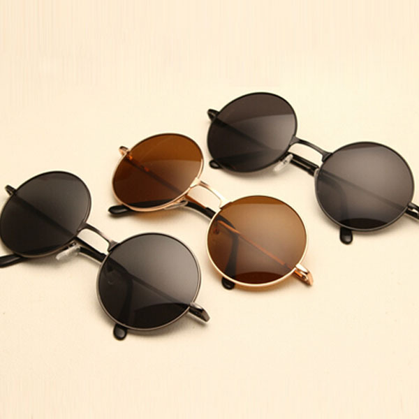 VINTAGE STEAMPUNK Sunglasses round Designer steam punk Metal OCULOS de sol women COATING SUNGLASSES Men Retro CIRCLE SUN GLASSES(China (Mainland))