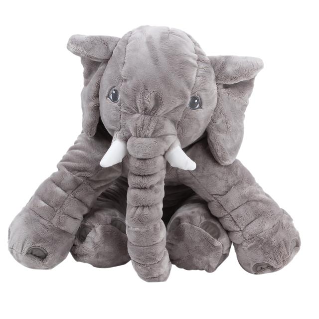 Большой супер мягкий короткий плюшевые Слон Игрушка Слон Кукла Кукла Подарок На День Рождения Праздник Подарок Домашнего Декора Дети Подарочные # 1JT