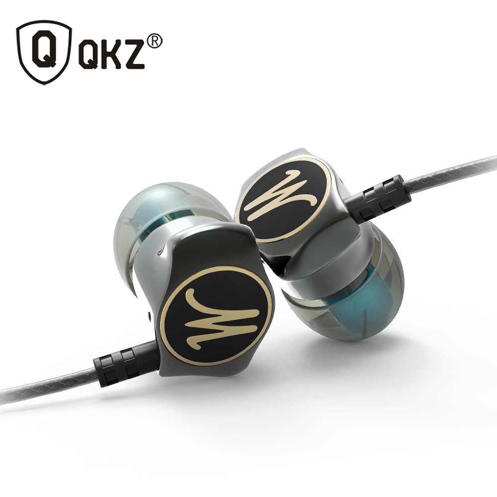 Earphone Zinc Alloy Original QKZ DM7 Stereo Bass Earphone Metal Handsfree Headset 3.5mm Earbuds for all Mobile Phone mp3 Player(China (Mainland))