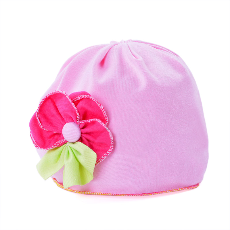 Baby Hat new Spring Autumn Cotton Flower Fall Hats For Children Girls Caps Toddler Infant Kids Headdress Beanies Accessories(China (Mainland))