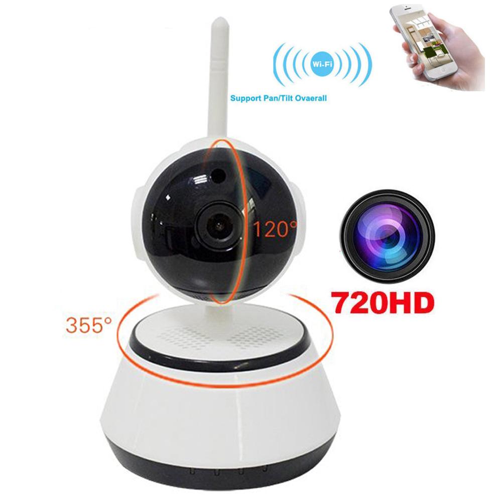 pan tilt wifi cam ra ip sans fil b b moniteur de s curit domicile 720 p mini cam ra de. Black Bedroom Furniture Sets. Home Design Ideas