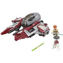 2016 New LEPIN 227Pcs Star Wars Obi-Wans Jedi Interceptor Minifigures Building Blocks Sets Toys Gifts Compatible Legoe 75135(China (Mainland))