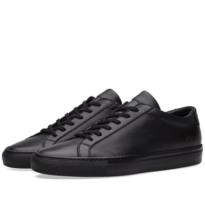 Фотография Brand Shoes Woman Common Projects Men Spring Autumn Low Top Black Genuine Leather Sheepskin Casual Shoes Marca Italiana Mocassin