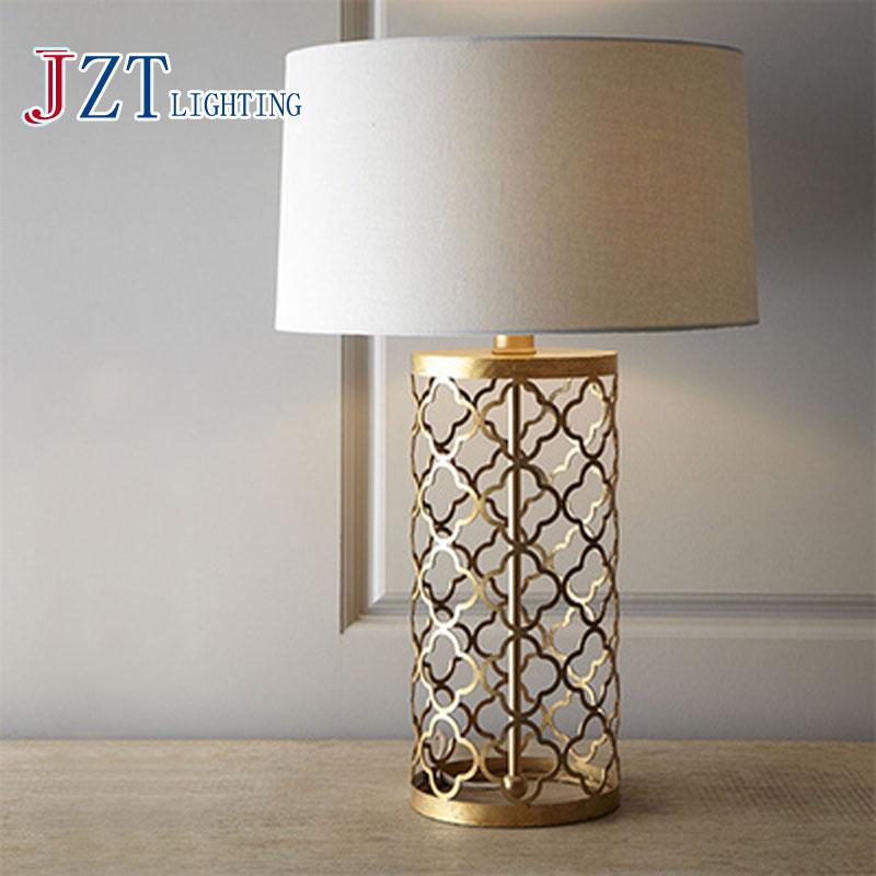 t simple warm golden table lamps retro creative american. Black Bedroom Furniture Sets. Home Design Ideas