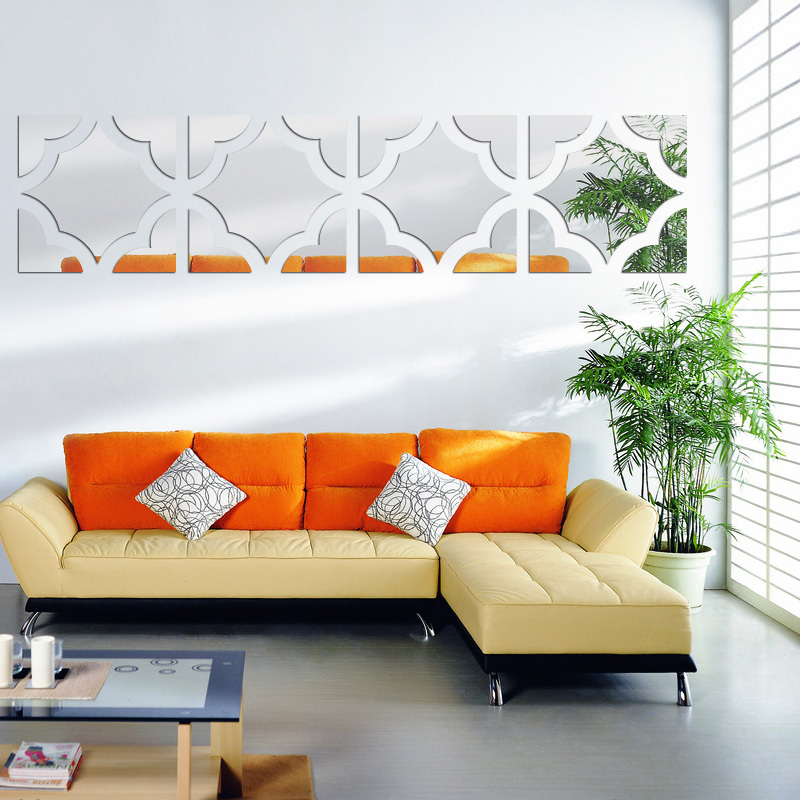Large H Wall Decor : Fashion acrylic d wall stickers large sticker