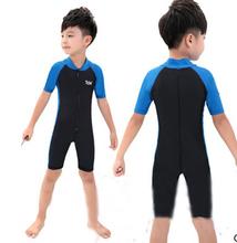 Детский гидрокостюм защиты от солнца одеждой частей с коротким рукавом одежды защиты от солнца одеждой медузы уф купальники