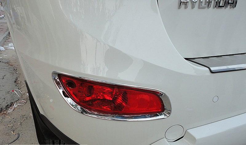 Купить Хром фронт + задний противотуманный фонарь крышка лампы накладка для Hyundai santa fe 2010 2011 2012